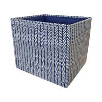 in Denim blau/weiß; (33x38x33cm)