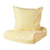 in gelb; 100% Baumwolle; 2-teilig; (140x200/80x80cm)