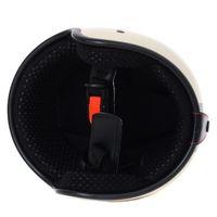 Helm ähnlich wie retro Vespa Helm, Motorradhelm oder Rollerhelm (beige mit schwarzem Stern); Größe L (57-59cm) 003