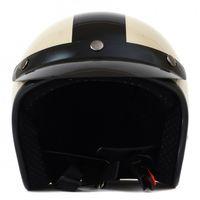 Helm ähnlich wie retro Vespa Helm, Motorradhelm oder Rollerhelm (beige mit schwarzem Stern); Größe XS (50-53cm) 002