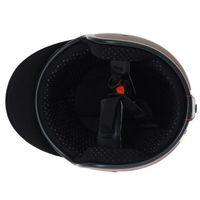 Helm ähnlich wie retro Vespa Helm, Motorradhelm oder Rollerhelm (braun mit weißem Stern); Größe XL (60-62cm) 002