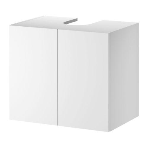 Ikea lillangen waschbeckenunterschrank mit 2 t ren in wei badezimmer schrank ebay - Ikea badezimmer waschbeckenunterschrank ...