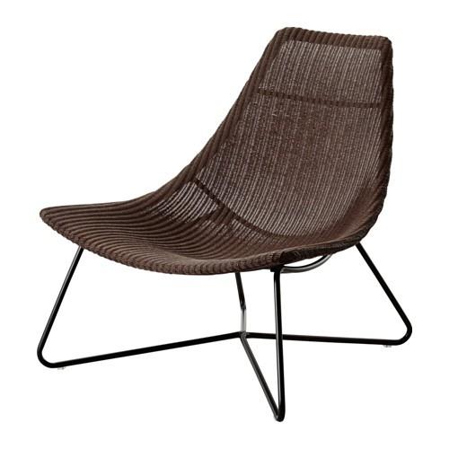 Ikea Radviken Sessel In Dunkelbraun Stuhl Sitz Naturmaterial Ebay
