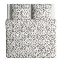 in grau/weiß; 100% Baumwolle; 3tlg.; (240x220cm und 80x80cm)