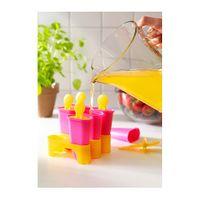 IKEA CHOSIGT Form für Eis am Stiel 6tlg.; in gelb/rosa 002