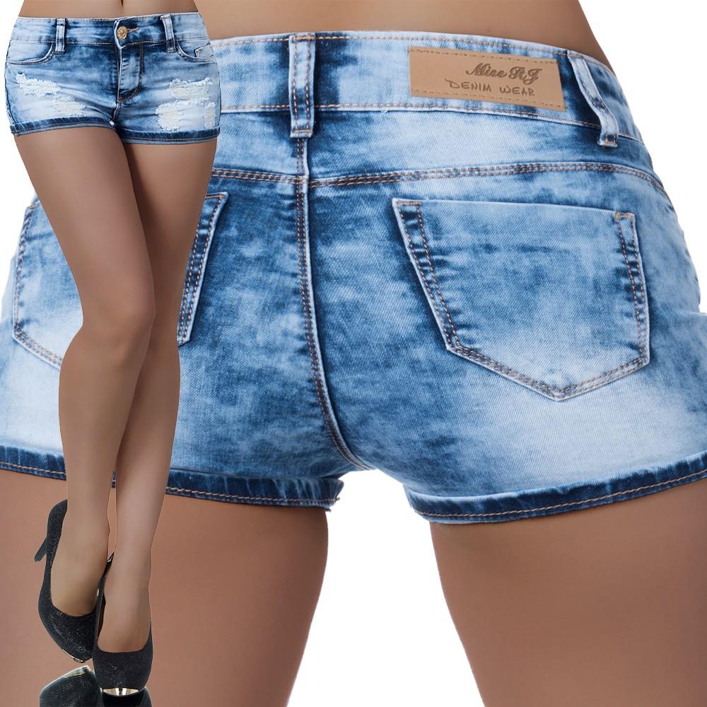 Damen Shorts Hotpants Hot Pants Jeans kurze Hose Damenjeans H21