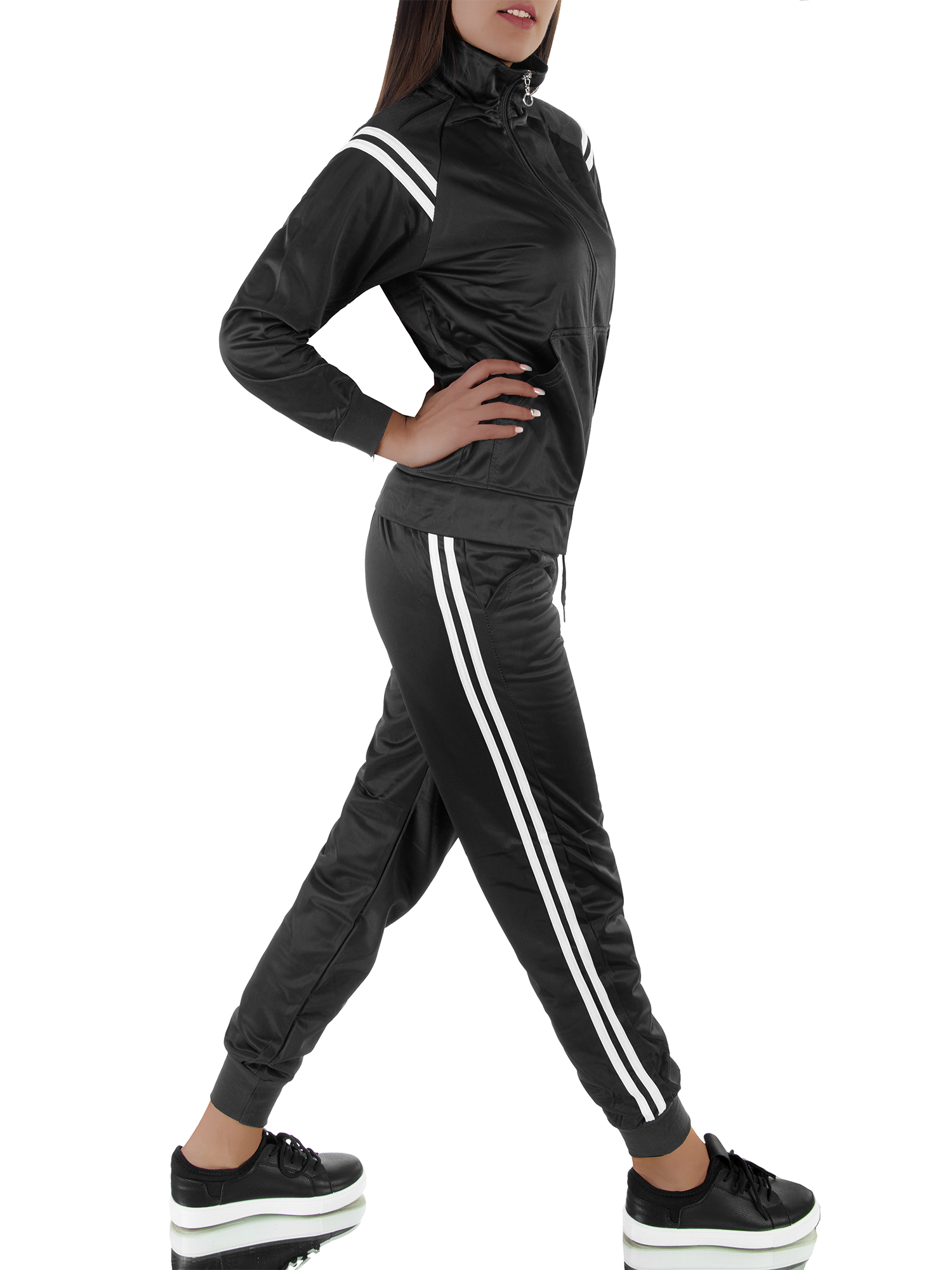 Damen Mickey Mouse Trainingsanzug Jogginghose Pullover Top Sports Laufen Anzug