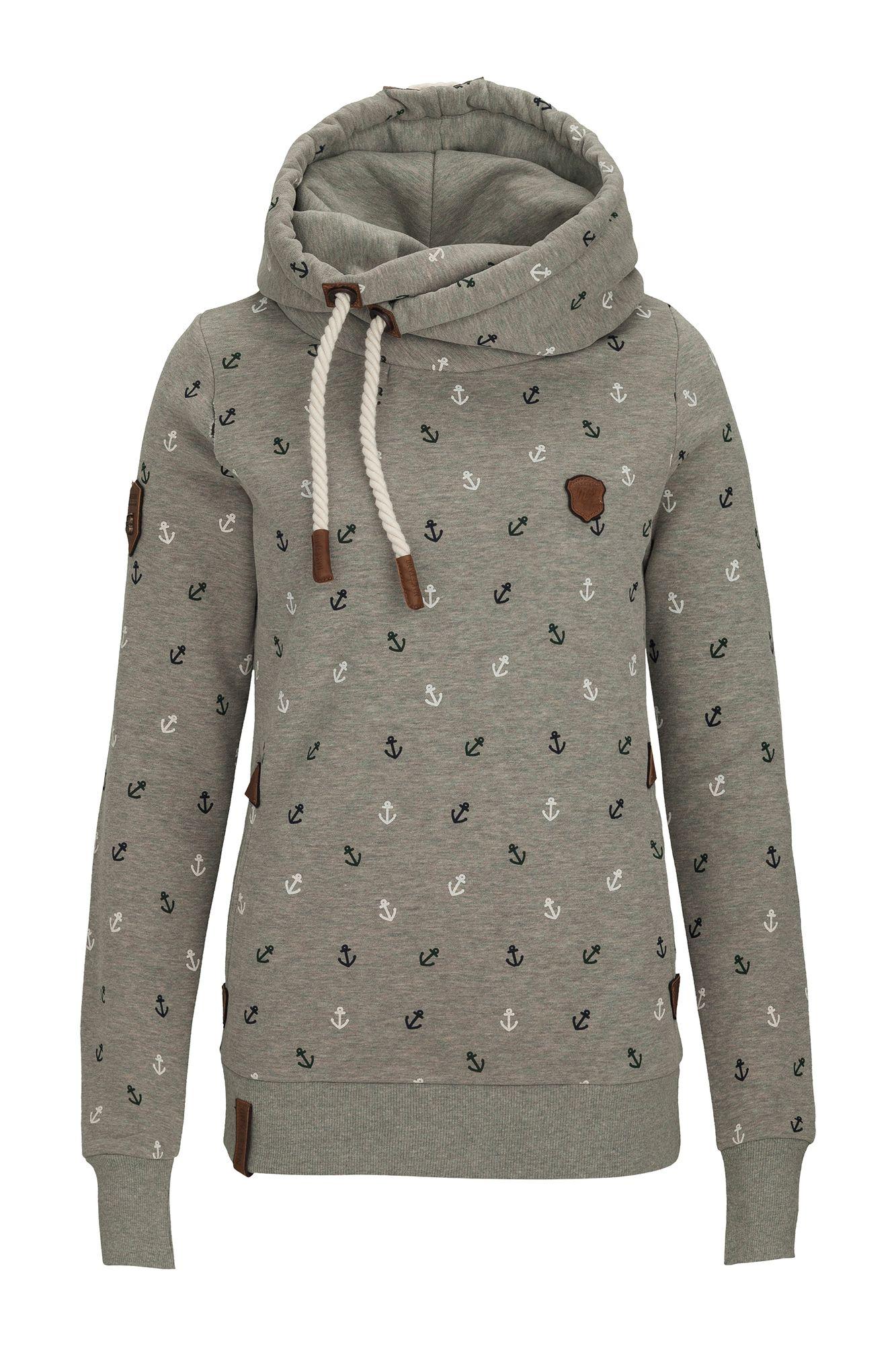 Naketano Guts over Fear W hoodie turquoise heather
