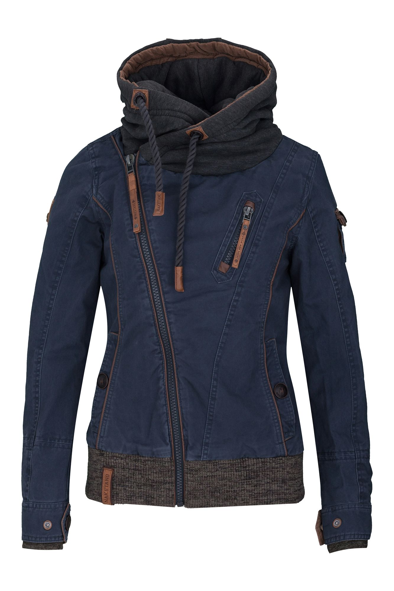 naketano walk the line ii jacke für damen blau