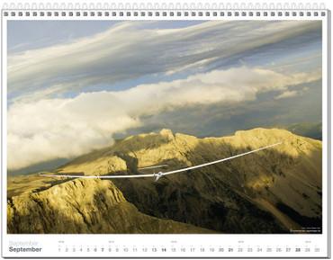 Wandkalender DIN A2+, Fotokalender Segelfliegen 2014 – Bild 10