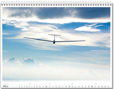 Wandkalender DIN A2+, Fotokalender Segelfliegen 2017 – Bild 4