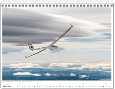 Wandkalender DIN A3, Fotokalender Segelfliegen 2017 – Bild 11