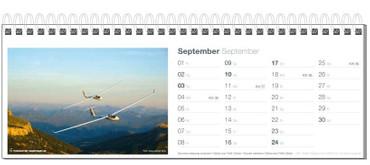 Table calendar, Fotokalender Segelfliegen 2017 – Bild 10