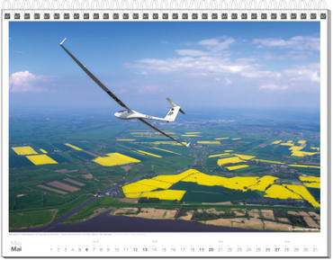 Wandkalender DIN A3, Fotokalender Segelfliegen 2018 – Bild 6