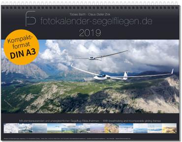 Wandkalender DIN A3, Fotokalender Segelfliegen 2019 – Bild 1