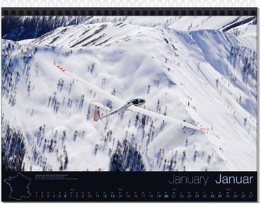 Wandkalender DIN A3, Fotokalender Segelfliegen 2019 – Bild 2
