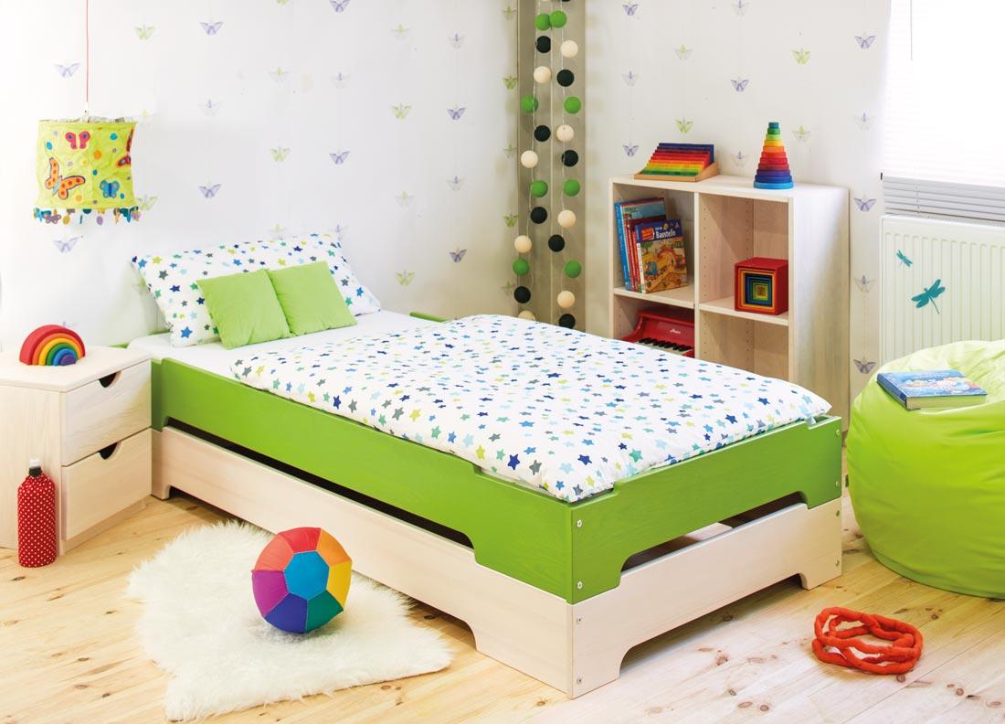 Set Lina Babybett mit Bettkasten 70x140 cm