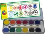 Naturfarbkasten mit 12 Farben im Metalletui, ökoNORM