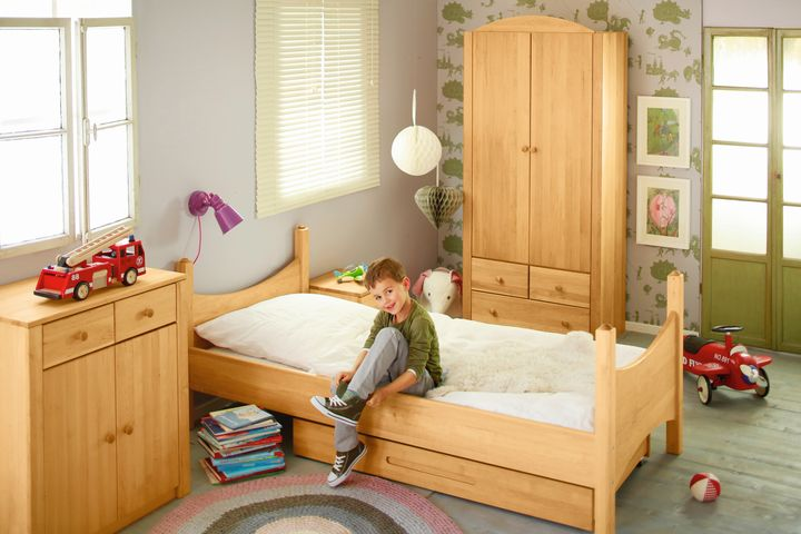 biokinder komplett set noah kinderzimmer mit bionik matratze erle. Black Bedroom Furniture Sets. Home Design Ideas