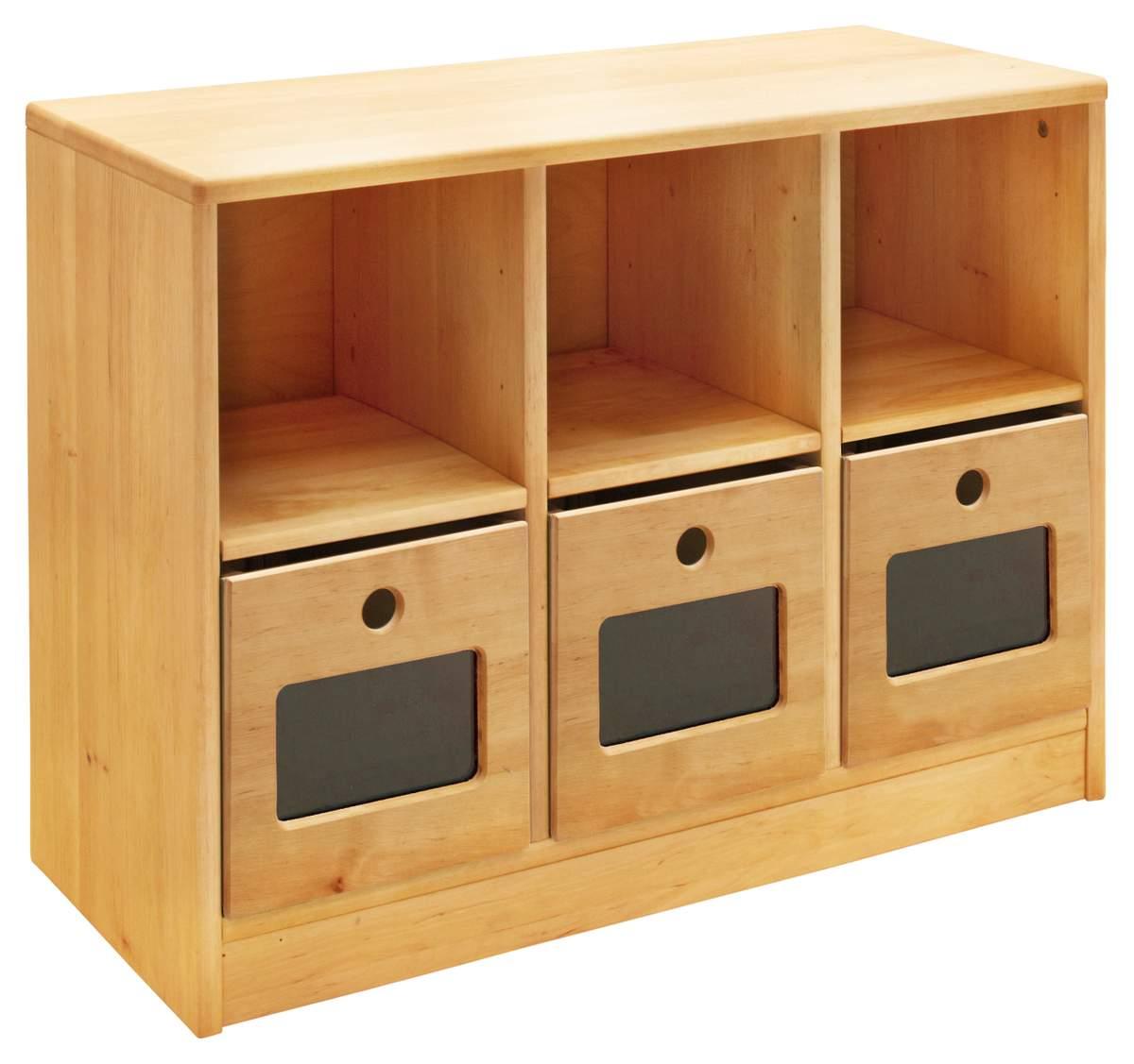 Artikelbild: Robin Set Ordnungsregal breit mit 3 Ordnungsboxen. Höhe 64 cm, Breite 86 cm