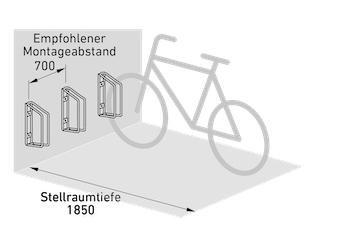 Fahrradparker Abmessungen