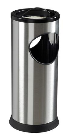 Standascher mit Abfallbehälter aus Edelstahl 17,5L /0,25L – Bild 1