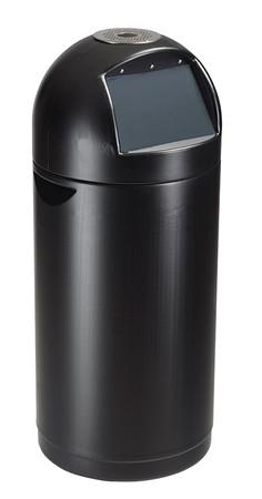 Abfallbehälter aus Polyethylen für Draußen mit Deckelklappe, 52L – Bild 1
