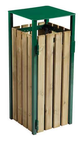 Abfallbehälter aus Holz zum Aufstellen oder Befestigen, 110L in 3 Farben – Bild 1