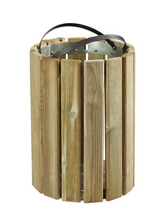 Wandabfallbehälter aus Holz 20L – Bild 2