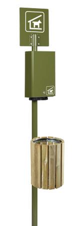 Wandabfallbehälter aus Holz 20L – Bild 5
