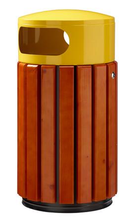 Abfallbehälter aus Holz zum Aufstellen oder Befestigen in 3 Farben, 40L – Bild 2