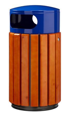 Abfallbehälter aus Holz zum Aufstellen oder Befestigen in 3 Farben, 40L – Bild 3