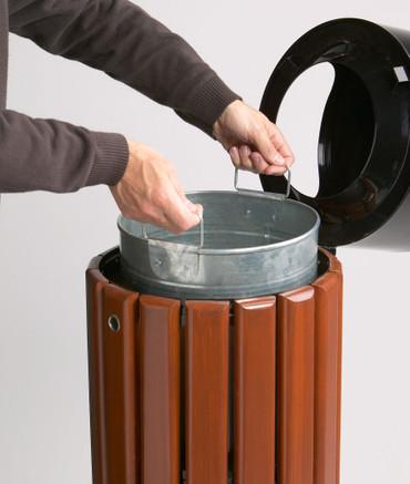 Abfallbehälter aus Holz zum Aufstellen oder Befestigen in 3 Farben, 40L – Bild 5