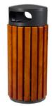 Abfallbehälter aus Holz zum Aufstellen oder Befestigen in 3 Farben, 60L