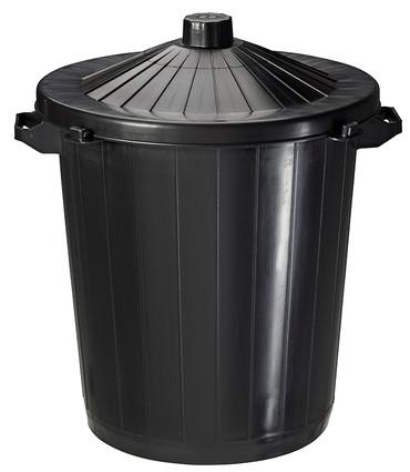 Set mit 6 Kunststoffabfallbehälter zum Aufstellen 80L – Bild 1