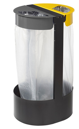Müllsackhalterung inkl. 2 Abfallbehälter 2x75L – Bild 1