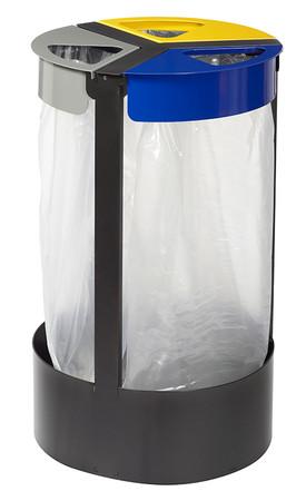 Müllsackhalterung inkl. 3 Abfallbehälter 3x45L
