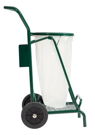 Abfallwagen für draußen mit Vollgummirädern 110L – Bild 5