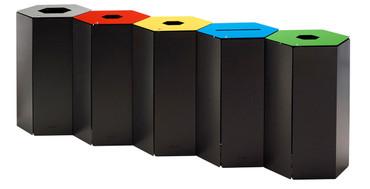 Abfalltrennbehälter, Wertstoffsammler mit Schloss 50L, Individuelle Gestaltung – Bild 1