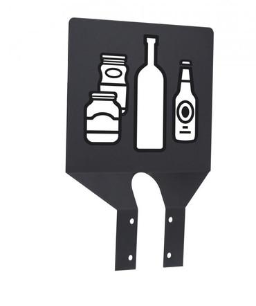 Zubehör: Neutrales Hinweisschild + 3 selbstklebende Bildtafeln für Abfalltrennung – Bild 1