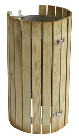 Zubehör: Holzlattenverkleidung für Müllsackhalter Klasse 4, Nadelholz – Bild 2
