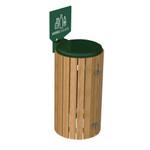 Zubehör: Holzlattenverkleidung für Müllsackhalter Klasse 4, Nadelholz 001