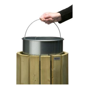 Zubehör: Innenbehälter für Abfallbehälter 20L, Feuerverzinkt – Bild 1