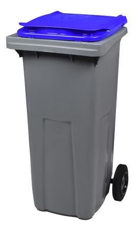 Mülltonne 240 Liter aus Kunststoff mit 2 Rädern in mehreren Farben ohne Schiene