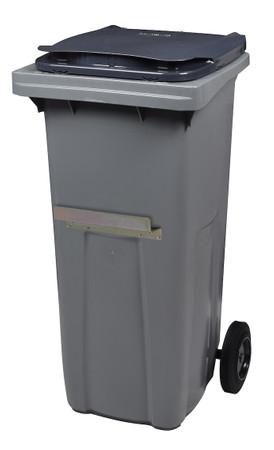 Mülltonne 240 Liter aus Kunststoff mit 2 Rädern in mehreren Farben mit Schiene