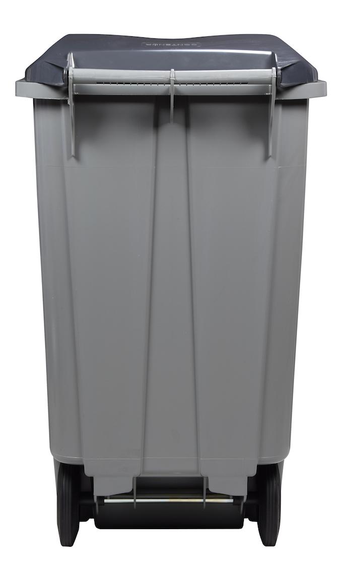 m lltonne 340 liter aus kunststoff mit 2 r dern ohne schiene. Black Bedroom Furniture Sets. Home Design Ideas