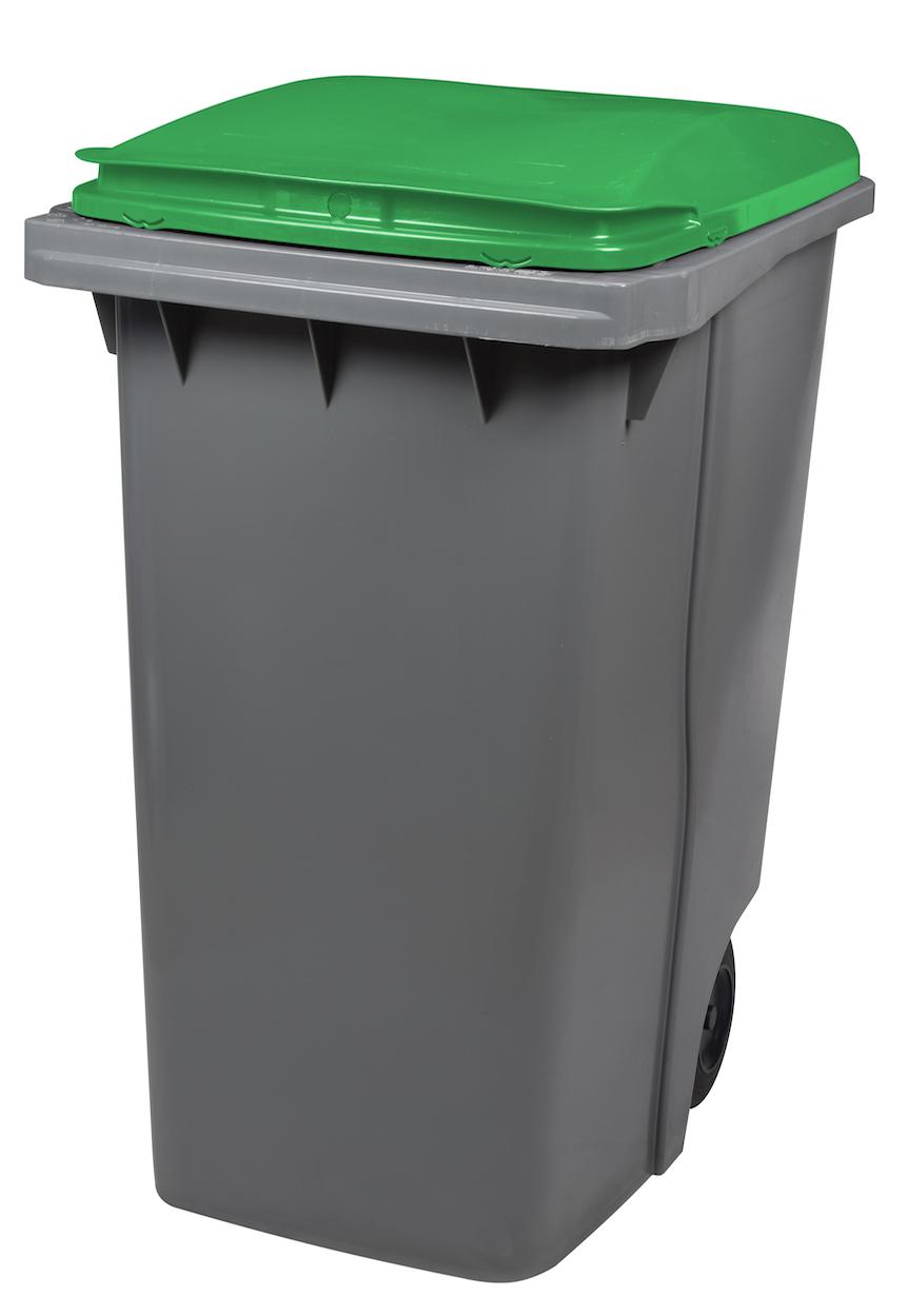 Mülltonne 340 Liter Aus Kunststoff Mit 2 Rädern Ohne Schiene