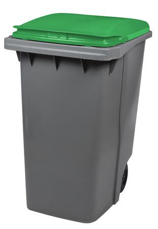Mülltonne 340 Liter aus Kunststoff mit 2 Rädern in mehreren Farben ohne Schiene