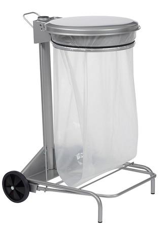 Fahrbare Müllsackhalterung mit Fußpedal 50L, HACCP