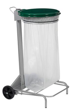 Fahrbare Müllsackhalterung mit Fußpedal 110L, HACCP in 5 Farben – Bild 2
